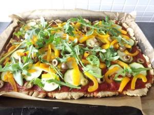 Pizza à la Paulien - bakplaat (2)