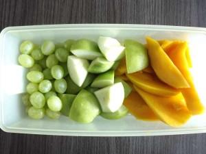 Fruitsmoothie mango-appel-druif