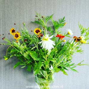 Veldboeket, bloemen plukken